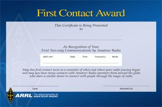 [First Contact Award]