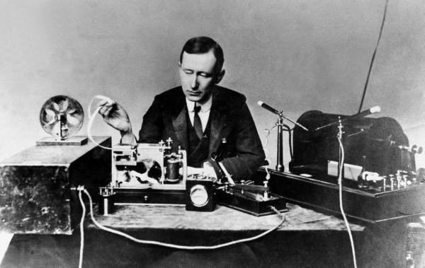 [Marconi at Work]