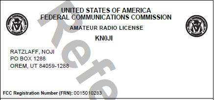[License KN0JI]